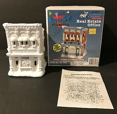 VTG California Creations Holiday REAL ESTATE OFFICE Creative Crafts SE 145