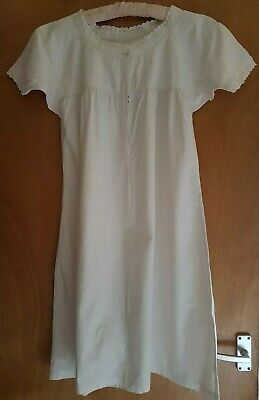 Vintage French Linen Homemade Night Dress Shirt