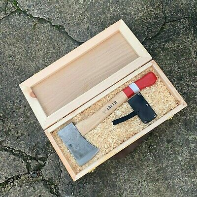 Adler 1919 Hand Forged 600g Hatchet, Hand Axe in Wooden Box - Made in Germany