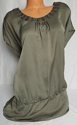 b7fd3e2bee5 APT. 9 TOP Tunic Plus Size 1X Turquoise Blue Embellished Y-neck ...