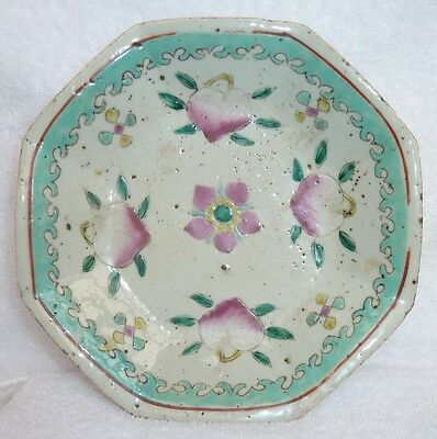 Reduced 31%**antique Chinese Serving Plate -Octagon/1800's /floral Pattern/ Mint