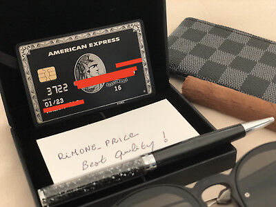 Black Card Metal - Like American Express Amex Centurion Credit Card + Box