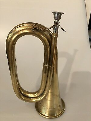 Vintage, Military Cavalry, Brass Bugle