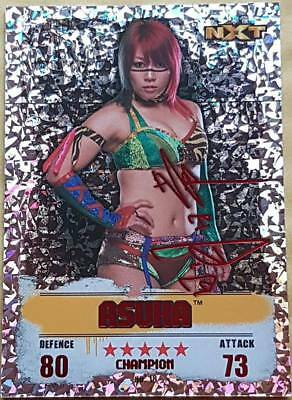 18 ASUKA Red Champion Holographic Foil card WWE Slam Attax TakeOver
