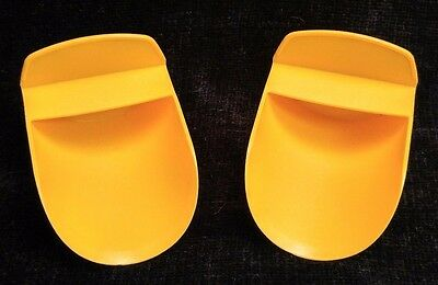 Tupperware Set of 2 ROCKER SCOOPS~Round~Canister~Flour~Sugar~Gadgets~ORANGE~New