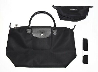 a0bb39bb8 LONGCHAMP MEDIUM LE Pliage Neo Nylon Top Handle Tote WITH Mini Pouch ...