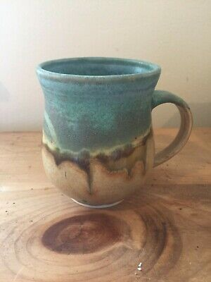 handmade pottery coffee ocean mug