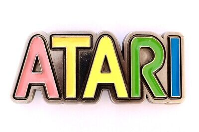 Atari Video Game Arcade Vintage Retro Rare Logo Belt Buckle Collectible K@@L