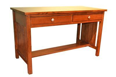 Mission Oak Library Table with spindles  Mission style Desk made of solid Oak