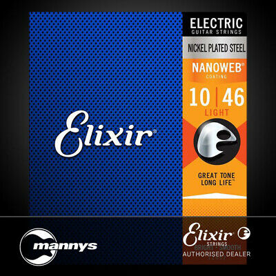 Elixir 12052 Electric Guitar Nickel Plated Steel w/ Nanoweb Coating - Light (10-