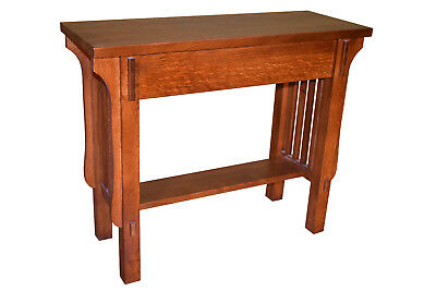 Crafters and Weavers Mission Solid Quarter Sawn White Oak Console Table