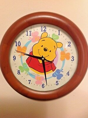 Winnie the Pooh wall clock, hand painted by CastingCreatives,20cms AND poster