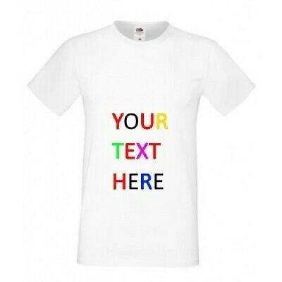 a42e7bedee3a PERSONALIZED CUSTOM PRINT YOUR OWN TEXT ON A T-SHIRT CUSTOMIZED HTV Men  Women