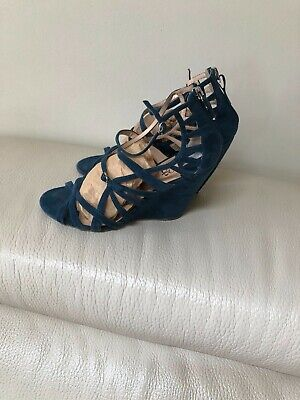 f65e04119 CO OP Barneys New York Womens Suede Wedge Sandals Size 11 41 Blue color