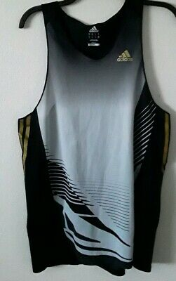 45f5571a95070 Adidas Climalite Athletic Running Tank Top Men s M Black Sleeveless