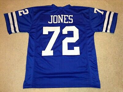 "UNSIGNED CUSTOM Sewn Stitched Ed ""Too Tall"" Jones Blue Jersey - Extra Large"