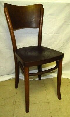 Vintage Wood Bentwood Bistro Chair Parlor Cafe