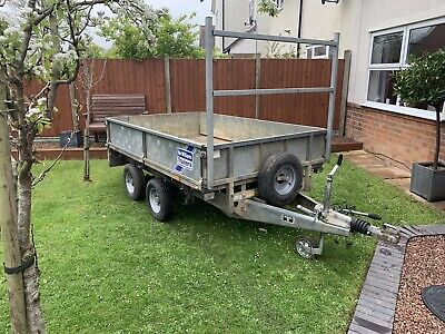Ifor Williams Lt85 Twin Wheel Dropside Flatbed Ladder Rack Ramps Trailer Tractor