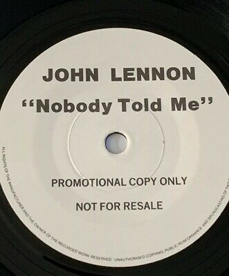 John Lennon 'Nobody Told Me ' One Sided EMI 7' Promo 1984 !!