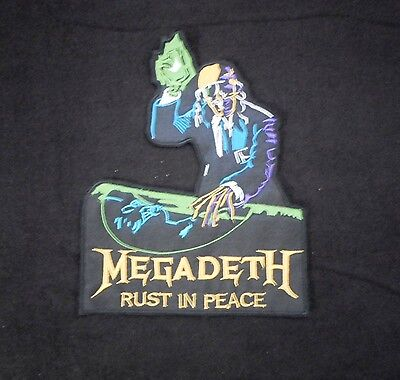 """Megadeth Embroidered Big Patch Logo """"Rust in Peace"""" Dave Mustaine 9"""" x 7"""""""