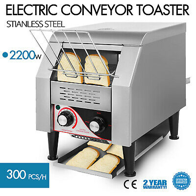 300PCS/H Electric Commercial Conveyor Toaster Stainless Steel  Sandwiches 2200W
