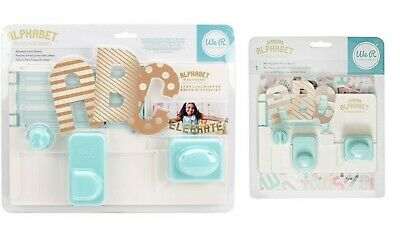 We R Memory Keepers Alphabet Uppercase Letters Cutter Punch Board / Mini Board