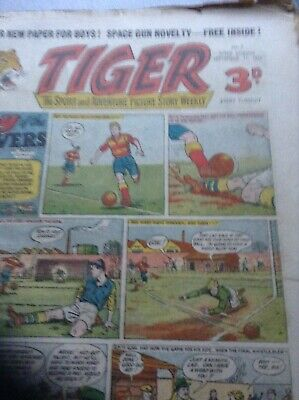 Tiger Comics dated from 11 sept 1954 volume 1 to 3rd sept 1955 volume 52