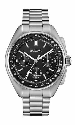 New Bulova 96B258 Special Edition Moon Apollo 15 262Khz Frequency Men's Watch