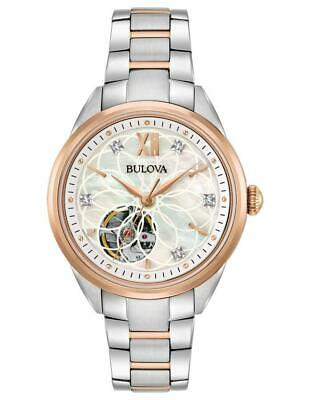 Bulova 98P170 Women's Automatic Diamond Accent Two-Tone Stainless 34mm Watch