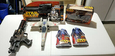 Star Wars Blasters, Space Ships, and Characters Toy Lot