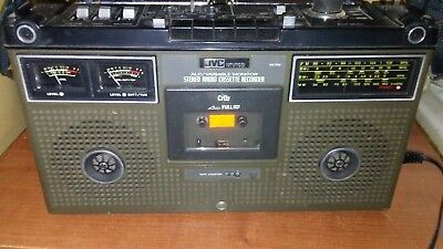 Vintage JVC NIVICO 9475W Boombox 4 Band Stereo Radio Cassette Recorder