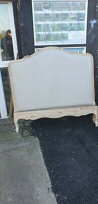 Upholstered Oak French Style Double Bed Del Avail