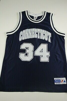 size 40 951ba cf4dd Vintage Majestic Ray Allen Connecticut Uconn Huskies Jersey Sz L Made in USA