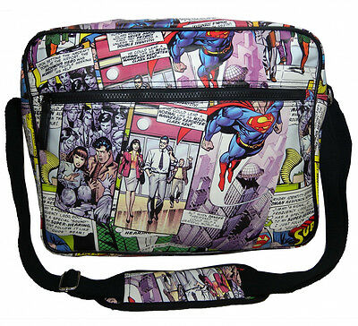 Dc Comics Superman Comic Strip Tiled Print Shoulder Messenger Bag
