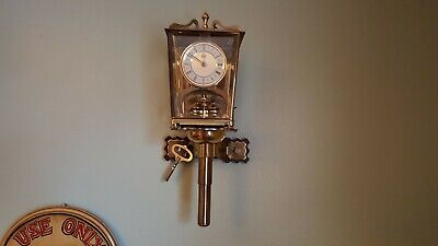 """Superb Vintage """"London Coach"""" Style 400 Day Anniversary Mantle / Wall Clock 1969"""