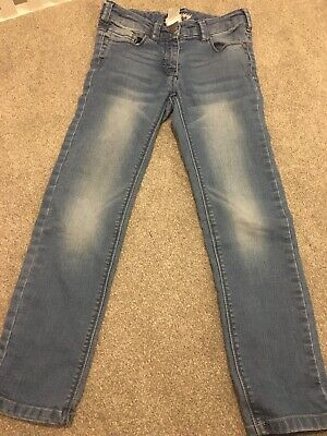 Next girls  blue Skinny Cut jeans - age 8 years