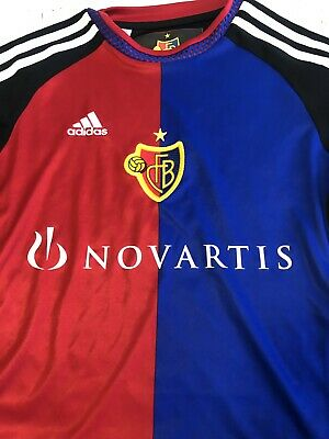 FC BASEL HOME REPLICA JERSEY Red Black And Blue Size Yout 11-12 Mint Condition