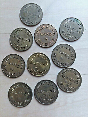 PA3507A Pennsylvania Lot of 10 Kennett Square parking tokens