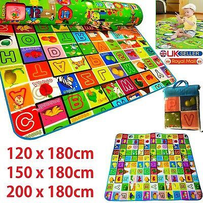 2 SIDE BABY MAT KIDS CRAWLING EDUCATIONAL PLAY SOFT FOAM BABY CARPET Double Side
