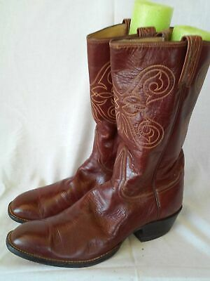 a2616499e32 TONY LAMA COWBOY Ol' Buck 6156 Boots Vintage Black Leather 11.5 D ...