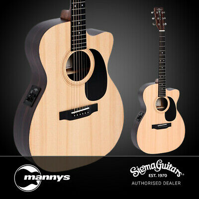 Sigma SE Series 000TCE+ 000-14 Fret Acoustic Guitar w/ Solid Spruce Top, Cutaway