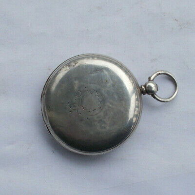 RARE Vintage Antique 1800's Sterling Silver Key Wind Pocket Watch English LOOK