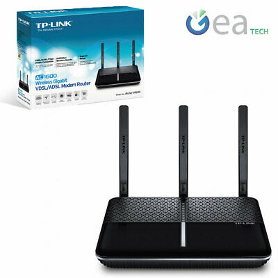 Tp-Link Archer Vr600 Modem Router Wireless Wifi Ac1600 Dual Band Vsdl Adsl Fiber