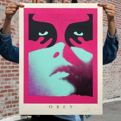 Obey Shadowplay Blue Signed Screenprint Shepard Fairey X/350 Confirmed Order