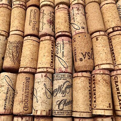 100 used wine corks FREE Priority ship USA all natural cork from red white wines