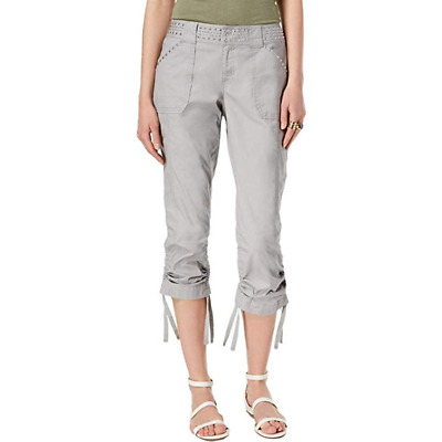 I.N.C. Curvy-Fit Studded Cargo Pants MSRP $89.50 Size 12 # 9A 531 NEW