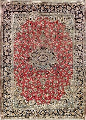"""Najafabad Persian 9x12 Wool Hand-Knotted Floral Oriental Area Rug 12' 4"""" X 9' 1"""""""