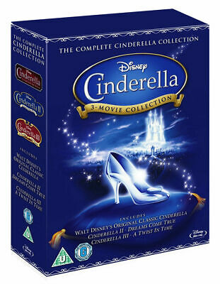 CINDERELLA 3-Movie Collection [Blu-ray] Complete Animated Disney Trilogy Box Set