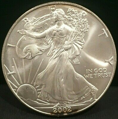 TWO (2) Silver American Eagle Coins BU 2002 and 2003 - great coins for the stack