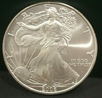 TWO (2) Silver American Eagle Coins BU 2006 and 2007 - great coins for the stack